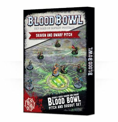 Blood Bowl Skaven and Dwarf Pitch Stück Games Workshop Playmat 200-06 Spielfeld