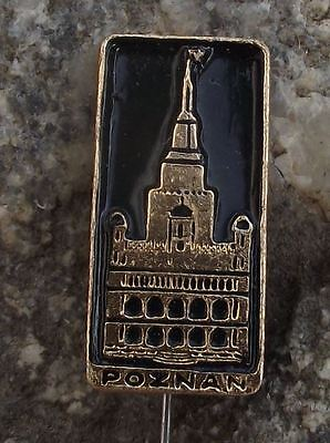 Antique Bilina Bilin Town Teplice Square Monument Tourist Souvenier Pin Badge