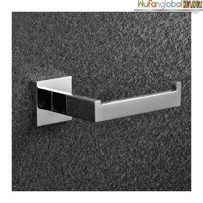 304 Stainless Toilet Paper Roll Holder Bright Steel Square Bathroom Home Tools
