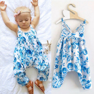 Newborn Kids Baby cute Girls Floral Romper Jumpsuit Bodysuit Clothes Outfits new