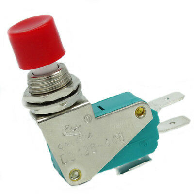 Push Button 12MM Momentary Micro Limit Switch 250VAC 15A SPDT 1NO 1NC