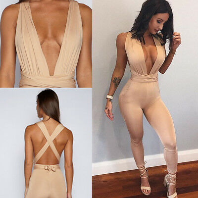 Women's Jumpsuit Evening Overall Clubwear Ladies Party Playsuit Pants Romper New