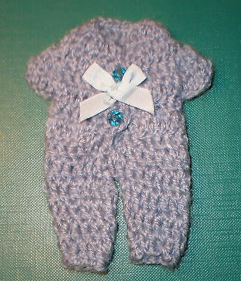 Puppenstubenpuppenanzug hellblau einteilig/dollhouse doll suit light blue