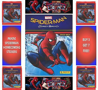 Panini Marvel Spiderman Homecoming Sticker Collection, choose your stickers