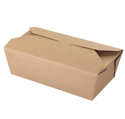 Brown paper food box kraft leak/grease proof lunch salad box takeaway bio UK