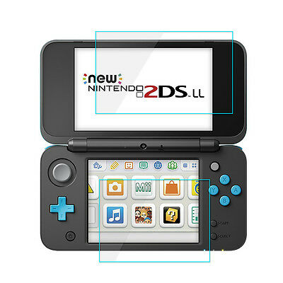 Top+Bottom Tempered Glass Screen Protector Film Guard For Nintendo 2DS LL/XL