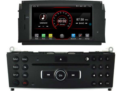 "7"" Android 7.1 Car DVD Player GPS Radio for Mercedes Benz C class W204 2007-2011"
