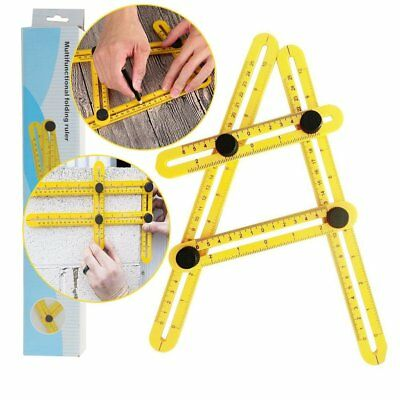 2xAngle-izer Multi-Angle Ruler Template DIY Tool Tile Floor Measuring Instrument