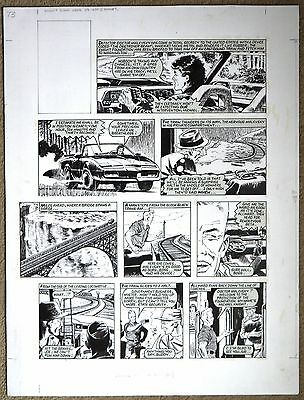 Knight Rider Original Art By Barrie Mitchell From Look-In