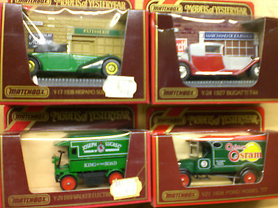 MATCHBOX Sammlung Modell Autos Cars OVP MIB Models of Yesteryear LOT Vintage Toy