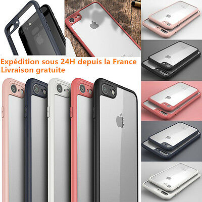 iPhone 8/7/Plus/6/6S/Plus/SE/5S/X COQUE APPLE HOUSSE ANTICHOCS CLAIR BUMPER CASE