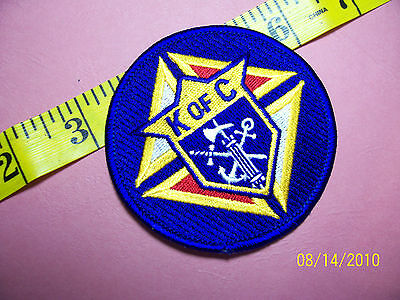 KNIGHTS OF COLUMBUS - Sword Anchor Cross Embroidered Patch 3""