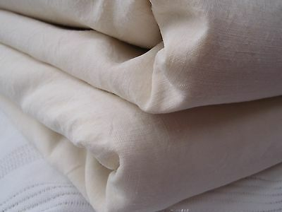 PAIR Wide 220cms L 300cms Unused vintage French linen Sheets