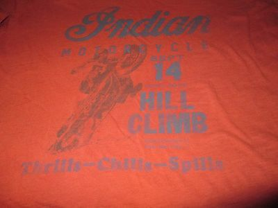 INDIAN Motorcycles Hill Climb T Shirt XLarge