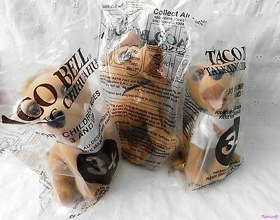 Set of 3 Talking Taco Bell Chihuahua Plush Dogs~All Sealed in Plastic