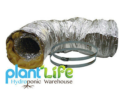 RAM HYDROPONIC ACOUSTIC INSULATED LOW NOISE FOIL VENTILATION DUCTING 10m