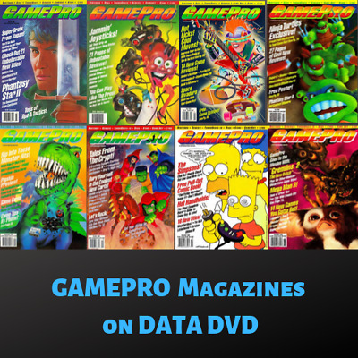 GAMEPRO MAGAZINE! Collection 122 ISSUES! RARE Vintage Retro Gaming ~ 1 Data DVD!