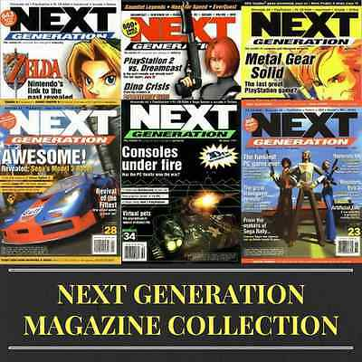 NEXT GENERATION MAGAZINE! Collection 30 ISSUES Vintage Retro Gaming ~ 1 Data DVD