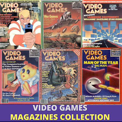 Video Games Magazine - 20 Issues  Retro Gaming Computer Magazines - Data DVD