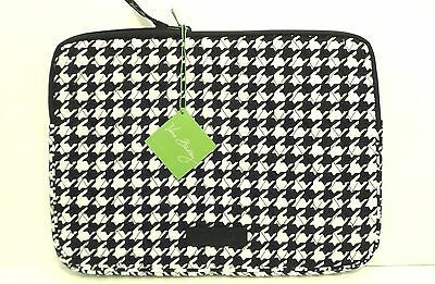 """NEW Vera Bradley Midnight Houndstooth 13"""" Tablet / small Laptop Sleeve Case Tags"""