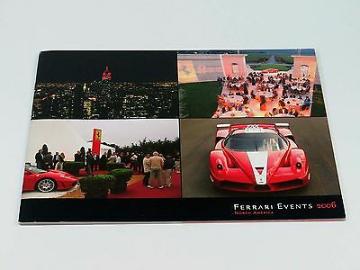 Original Ferrari Owner Events North America Brochure Catalog 2006