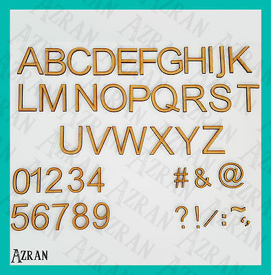 Wooden Ariel Font Names, Words Letters & Numbers Sizes 2,3,4,5,6,7,8 and 10cm