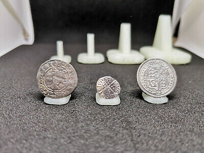 Coin stands / holder - 3 sizes. Perfect for coins and artefacts. Fibula stands