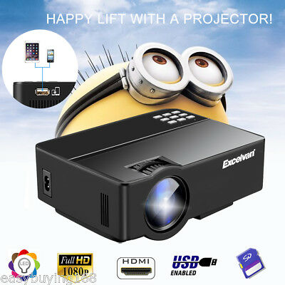 3000Lumen Led 1080P Hd Beamer Projektor Heimkino For Iphone Android Tablet Pc