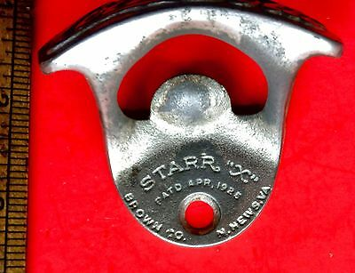 Vintage Drink Coca-Cola Starr X Old 1925 Cast Iron Wall Mounted Bottle Opener #2