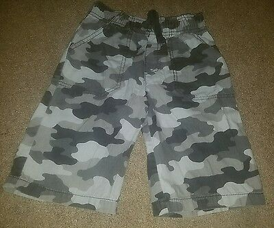 jumping beans gray pull on camo shorts.   size 7x (l)