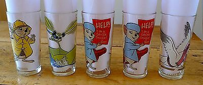 Lot of 5 Pepsi Collector Series Disney The Rescuers 1977 glasses