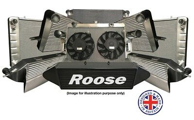 ROOSE Austin Healey 3000 Lightweight High Performance Black Aluminium Radiator