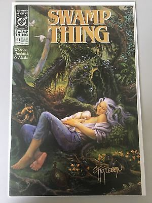 Swamp Thing (1982 2nd Series) #91 Signed by John Totleben VF Very Fine