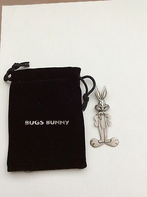Vintage WB Looney Tunes Rawcliffe  Pewter USA Bugs Bunny Pouches Keepsake