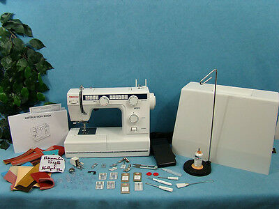 INDUSTRIAL STRENGTH Sewing Machine +WALKING FOOT Sews UPHOLSTERY LEATHER VINYL +