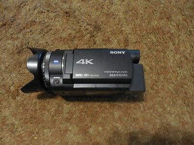 Sony FDR-AX33 Handycam Camcorder 4K Black 20.6 MP New--Used One Time