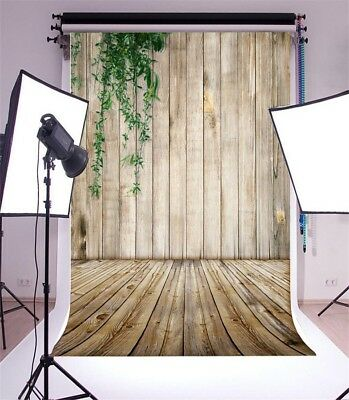 Vinyl Background Plant Cover Wood Wall Studio 5x7ft Photography Backdrop Props