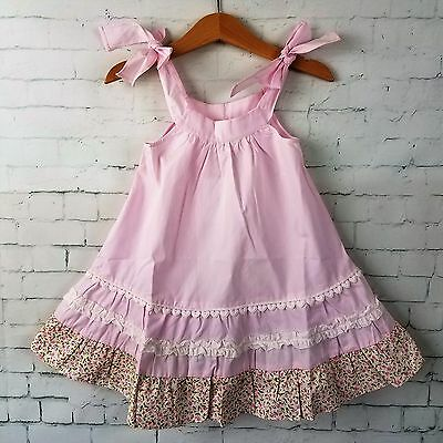 NWT P'tite Mom Baby Toddler Girl Dress 18 Months Pink Party Adjustable Straps
