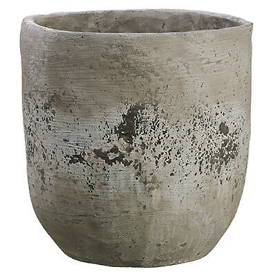 "11.75""Hx11.25""W Cement Round Planter -Stone (pack of 2)"