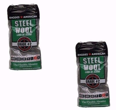 (2) Homax 12 packs #2 Medium Coarse Steel Wool Pads ~ New