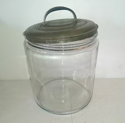 Large Antique Apothecary Store Display Glass Jar Blown Glass & Lid