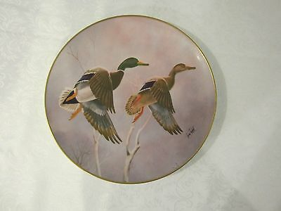 """10"""" 1977 Larry Toschik Mallards Whistling In Plate outdoors hunting decor gift"""