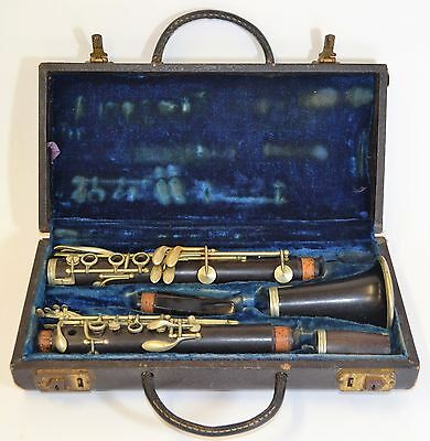 Vintage La Couture Paris Wooden Clarinet w/ Selmer Mouthpiece