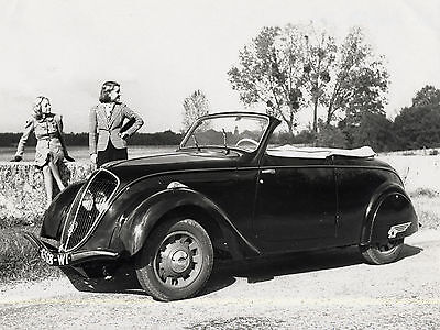 1938 Peugeot 202 Cabriolet  Press  8 x 10 Photograph