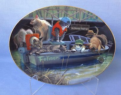 CAT COLLECTOR PLATE Catfish Creek  Franklin Mint Porcelain