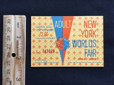 Six 1964-1965 New York Worlds Fair Tickets