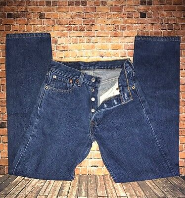 501 Levis Women's 1980's Denim Jeans size W26 L30 HIGH ~ Waisted Button Fly USA