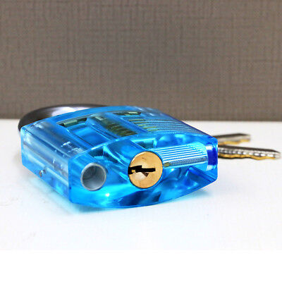 Transparent Visible Pick  Practice Padlock Lock With Broken Key Removing Hooks