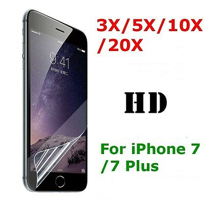 3X/5X/10X/20X Lot Ultra Clear HD Front Screen Saver Protector  for iPhone 7 Plus