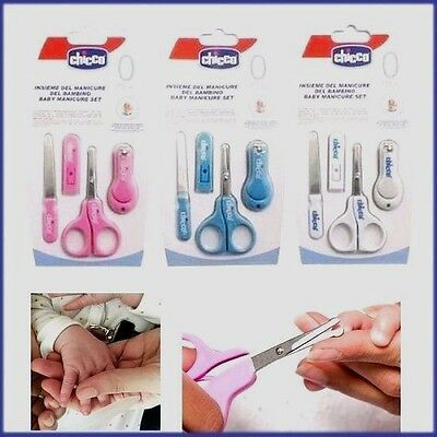 Baby Nail Care Cutter Scissors Clipper Manicure Pedicure BLUE 4 PIECE  Set GIFT